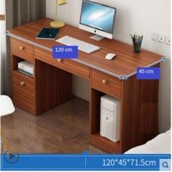 Table de bureau 4 tiroirs marron 120CM
