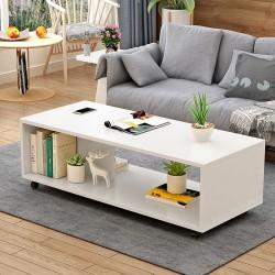 E04.20 Table basse salon melamine design epure 80CM