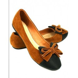 balerine marron et  noir daim TOP OR