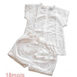 ensemble short blanc KIDKANAI