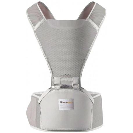 porte bebe siege ergonomique multifonction gris souris HAPPYBEAR