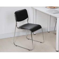 M06.20 Chaise de bureau sans accoudoir simili cuir noir