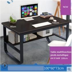 Table multifonction pieds metallique en U 100CM