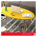 M07.20 Table basse scandinave ovale 1M jaune