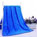 serviette de bain microfibre  bleu 140x70cm
