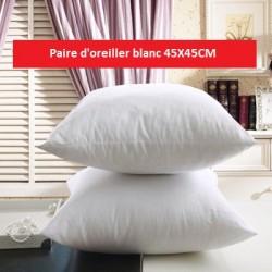 paire d'oreiller blanc 45X45CM