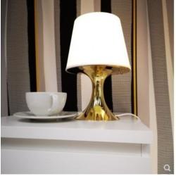 Lampe de table blanc pied doré IKEA LAMPAN