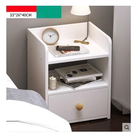 table de chevet 1 tiroir blanc 33x40cm