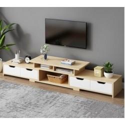 B08.20 Meuble TV 4 tiroirs NOUVEAU MODELE neutre&blanc
