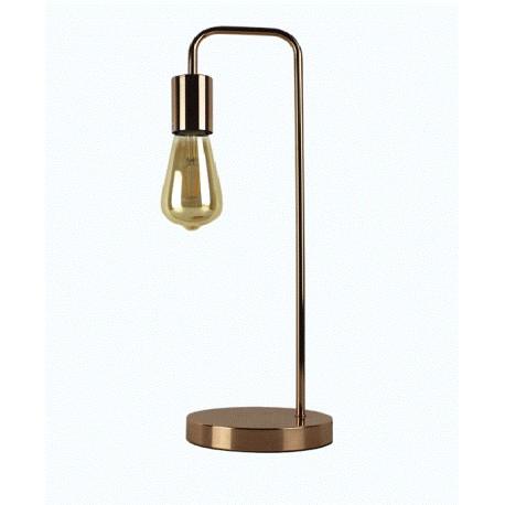 Lampe de table ampoule design E-27 2W LED metal rose gold