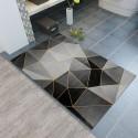 Tapis d entree motif geometrique ligne abstrait nuance de gris 40X60CM