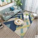 Tapis salon 3D motif lineaire en relief ton de bleu fond clair 160X230CM