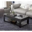 E10.20  table basse  rectangulaire vitrée   noir  1M