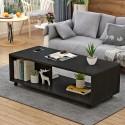 E10.20 Table basse salon melamine design epure  1m
