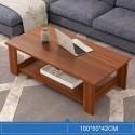 B08.20 Table basse rectangulaire 1M marron acajou