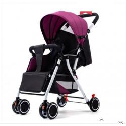 Poussette Pliable pour bébé 1 à 36 mois2 tons violet et noir