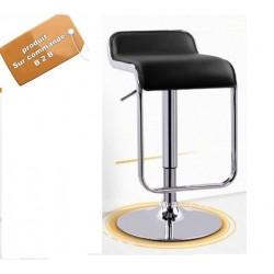 B2B Chaise de bar haute réglable capitonné et repos pieds style