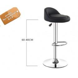 B2B  chaise de bar rotatif capitonné noir