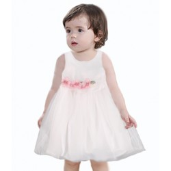robe bebe fille voilée blanc