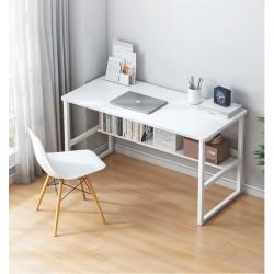 Table multifonction avec etagere pieds métallique epure 120cm