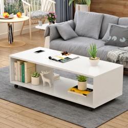 RABAIS B   table basse  épurée  blanc 80 CM